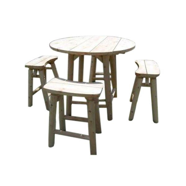"46"" Cedar High-Top Table Set With 4 Stools - M-1303"