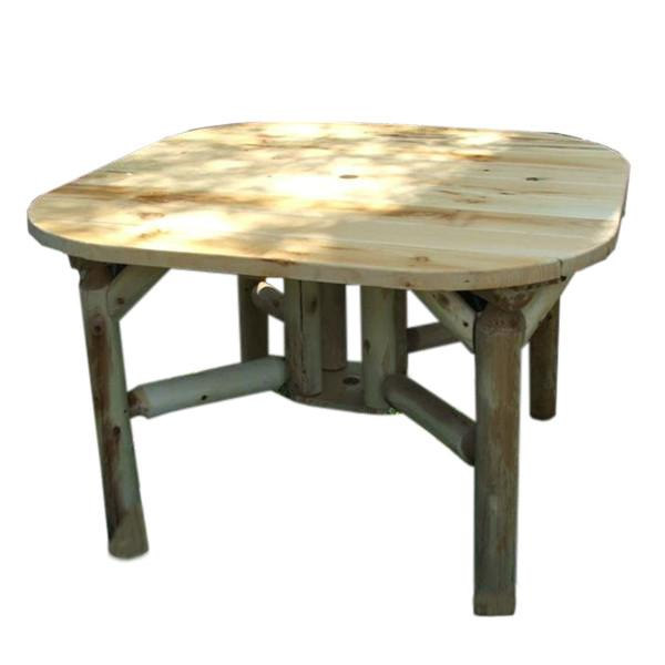 Cedar Log 47 inch Roundabout Table