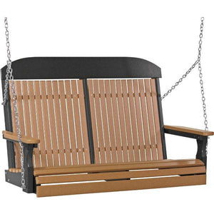 4ft Classic Swing Swing Cedar & Black