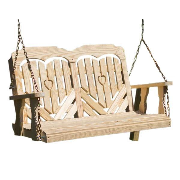 "53"" Treated Pine Heartback Porch Swing Porch Swing"