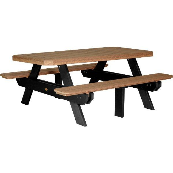 Poly 6ft Rectangular Picnic Table