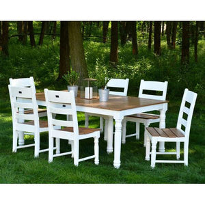 "72"" Farm House Dining Table Set with 6 Farm House Dining Chairs"