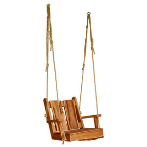 A & L Furniture 2ft Timberland Chair Swing with Rope Porch Swings Cedar