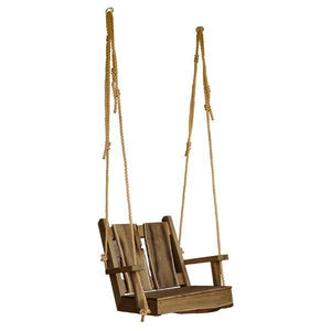A & L Furniture 2ft Timberland Chair Swing with Rope Porch Swings Mushroom