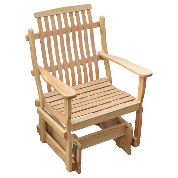 A & L Furniture Bent Oak Glider Chair Glider Chair Natural