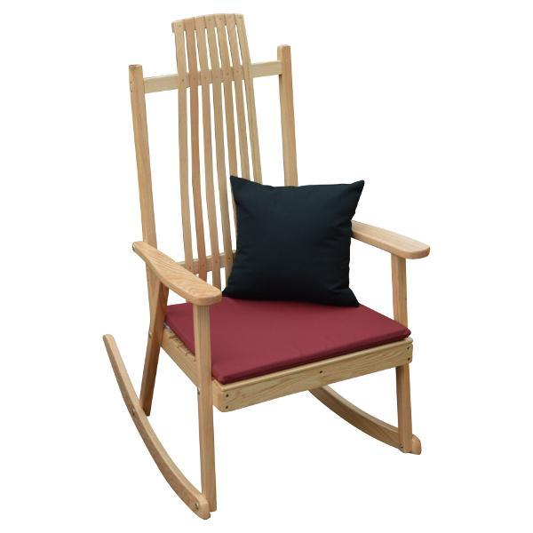 A & L Furniture Bent Oak Rocker Chair Rocker Chair Natural