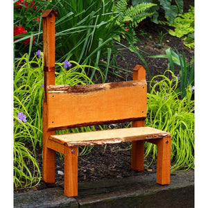 A & L Furniture Bramblewood Decorative Bench Garden Benches Cedar