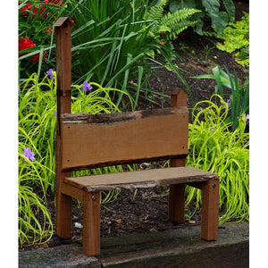 A & L Furniture Bramblewood Decorative Bench Garden Benches Mushroom