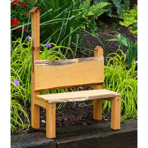 A & L Furniture Bramblewood Decorative Bench Garden Benches Natural
