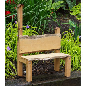 A & L Furniture Bramblewood Decorative Bench Garden Benches Unfinished