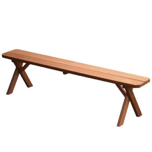 A & L Furniture Cross Leg Cedar Picnic Bench Picnic Bench 6ft / Cedar