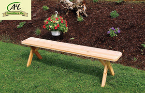 A & L Furniture Cross Leg Cedar Picnic Bench Picnic Bench 6ft / Unfinished