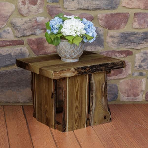 A & L Furniture Evening Grove Side Table Side Table Unfinished