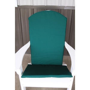 A & L Furniture Full Adirondack Chair Cushion Cushions & Pillows Forest Green