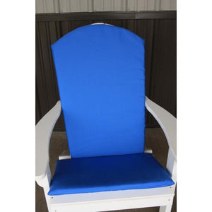 A & L Furniture Full Adirondack Chair Cushion Cushions & Pillows Light Blue