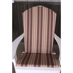 A & L Furniture Full Adirondack Chair Cushion Cushions & Pillows Natural