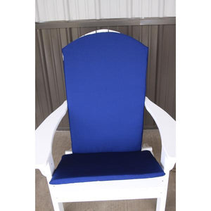 A & L Furniture Full Adirondack Chair Cushion Cushions & Pillows Navy Blue