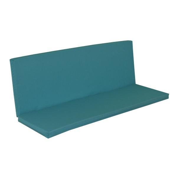 A & L Furniture Full Bench Cushion Cushions & Pillows Aqua / 4ft