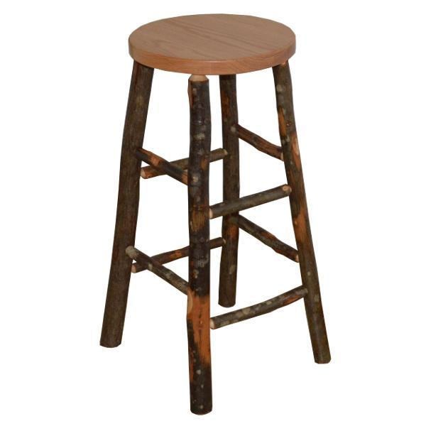 A & L Furniture Hickory Bar Stool Stool Natural