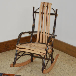 A & L Furniture Hickory Child's Rocker Rocker Chair Rustic Hickory