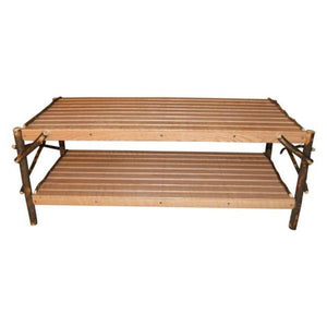 A & L Furniture Hickory Coffee Table with Shelf Table Natural