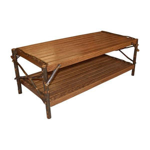A & L Furniture Hickory Coffee Table with Shelf Table Walnut