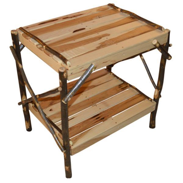 A & L Furniture Hickory End Table Table Rustic Hickory