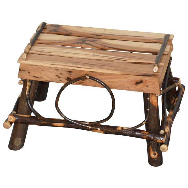 A & L Furniture Hickory Foot Stool Foot Stool Rustic Hickory