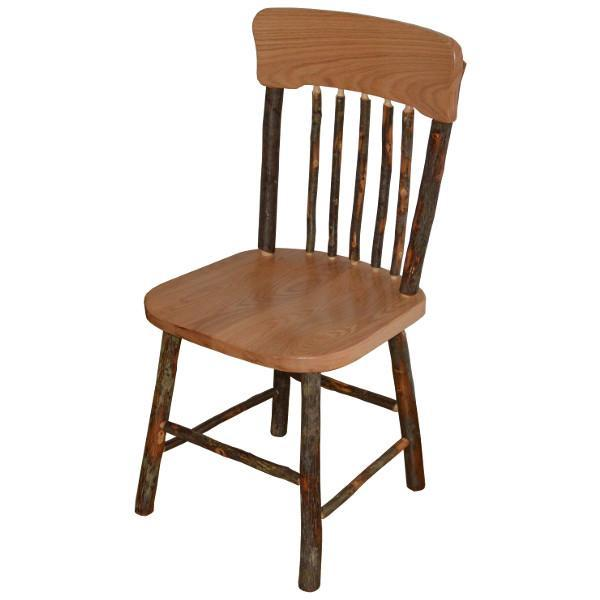 A & L Furniture Hickory Panel Back Dining Chair Outdoor Chairs Natural