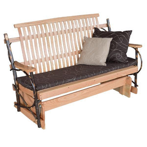 A & L Furniture Hickory Porch Glider Glider 4ft / Natural