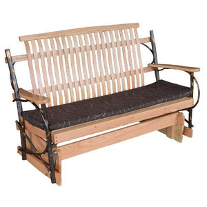 A & L Furniture Hickory Porch Glider Glider 4ft / Rustic Hickory