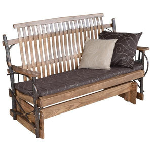 A & L Furniture Hickory Porch Glider Glider 4ft / Walnut
