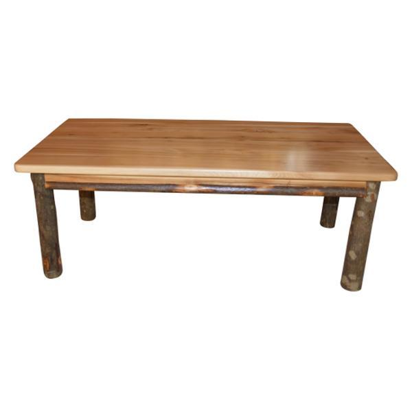 A & L Furniture Hickory Solid Wood Coffee Table Table Rustic Hickory