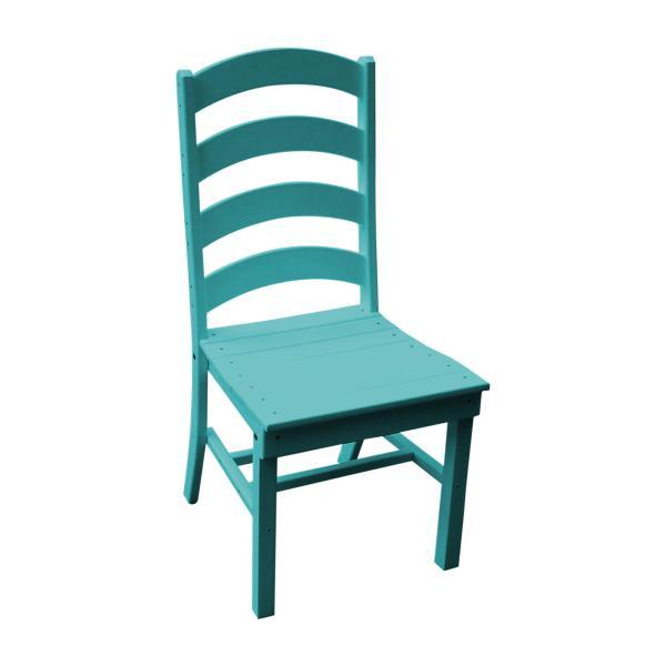 A & L Furniture Ladderback Dining Chair Outdoor Chairs Aruba Blue