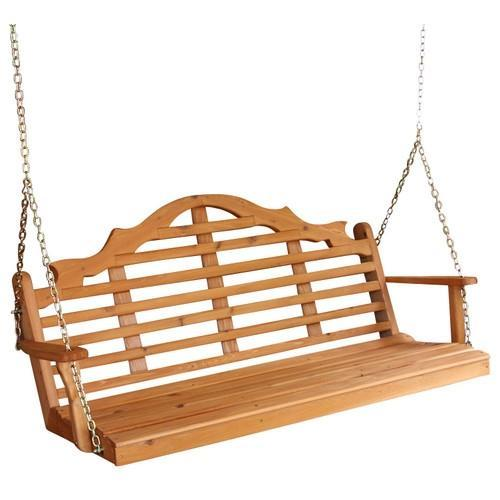 A & L Furniture Marlboro Red Cedar Furniture Porch Swing Porch Swings 4ft / No / Unfinished