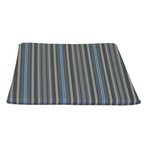 A & L Furniture Poly Dining Chair Seat Cushion Cushions & Pillows Blue Stripe