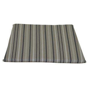 A & L Furniture Poly Dining Chair Seat Cushion Cushions & Pillows Gray Stripe