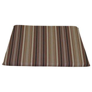 A & L Furniture Poly Dining Chair Seat Cushion Cushions & Pillows Maroon Stripe