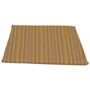 A & L Furniture Poly Dining Chair Seat Cushion Cushions & Pillows Orange Stripe