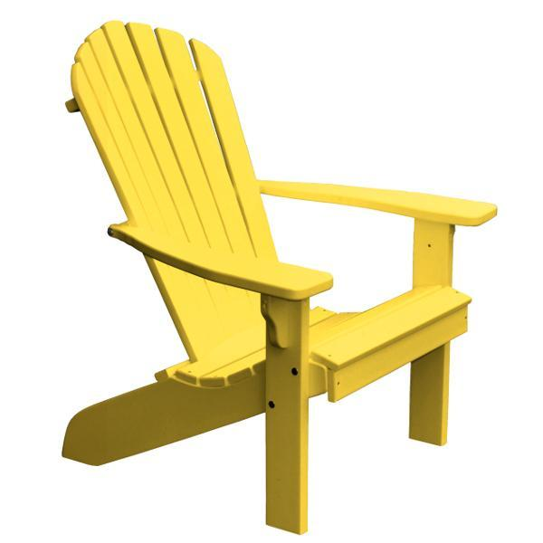 A & L Furniture Poly Fanback Adirondack Chair Outdoor Chairs Lemon Yellow
