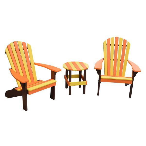 A & L Furniture Poly Fanback Adirondack Chair- Seasonal Color Combos Outdoor Chairs