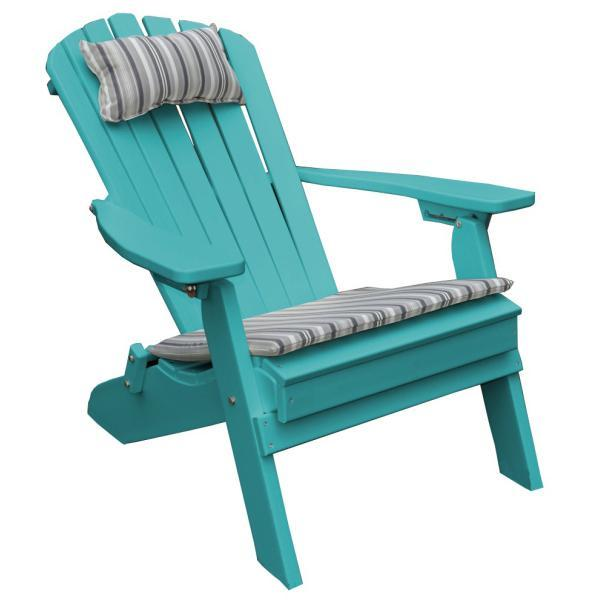 A & L Furniture Poly Folding/Reclining Adirondack Chair Outdoor Chairs Aruba Blue