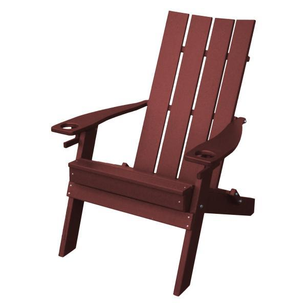 Swell A L Furniture Poly Hampton Folding Adirondack Chair W 2 Cupholders Squirreltailoven Fun Painted Chair Ideas Images Squirreltailovenorg