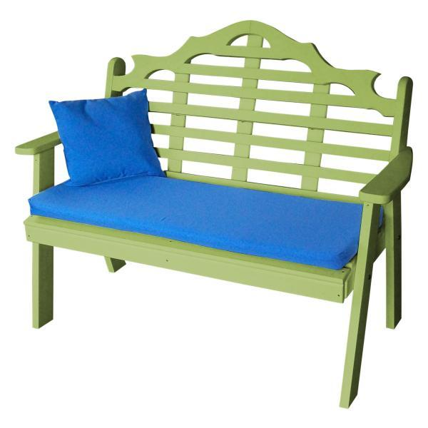 A & L Furniture Poly Marlboro Garden Bench Garden Benches 4ft / Aruba Blue