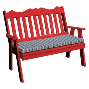 A & L Furniture Poly Royal English Garden Bench Garden Benches 4ft / Bright Red