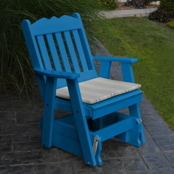 A & L Furniture Poly Royal English Gliding Chair Glider Blue