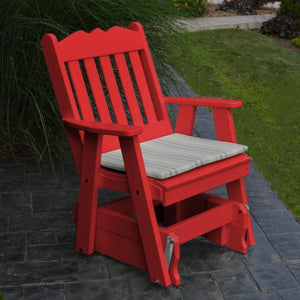 A & L Furniture Poly Royal English Gliding Chair Glider Bright Red