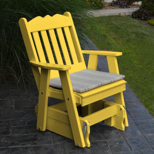 A & L Furniture Poly Royal English Gliding Chair Glider Lemon Yellow