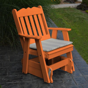 A & L Furniture Poly Royal English Gliding Chair Glider Orange
