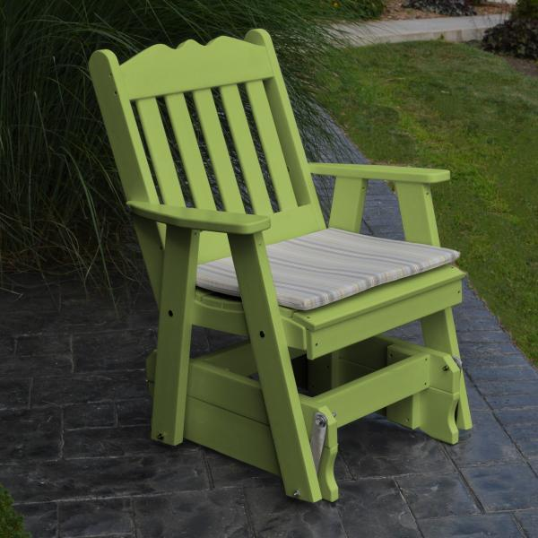 A & L Furniture Poly Royal English Gliding Chair Glider Tropical Lime